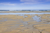 Spain, Galicia, Atlantic Ocean Beach, Low Tide