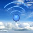 Wifi sign - 3D Rendering