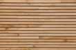 Leinwandbild Motiv Wood stripes facade building decor