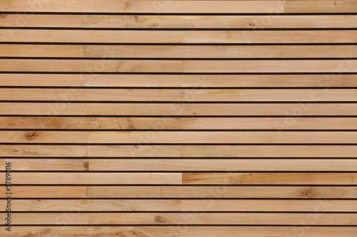 Wood stripes facade building decor - 57890116