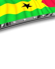 Designelement Flagge São Tomé und Príncipe