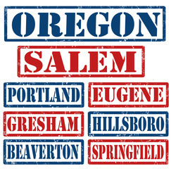 Oregon Cities stamps