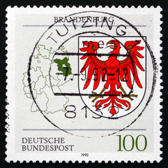 Postage stamp Germany 1992 Coat of Arms, Brandenburg