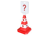 Traffic cone. 3D isolated