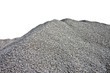 Gray Gravel Hill - White Background - 57892199