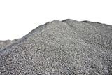 Gray Gravel Hill - White Background - 57892199