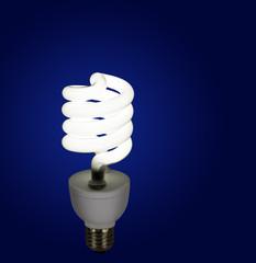Modern light bulb, lamp - CFL, background
