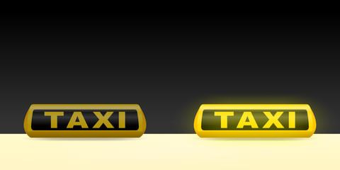 leuchtschild taxi V