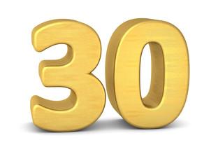 zahl cipher 30 gold vertikal