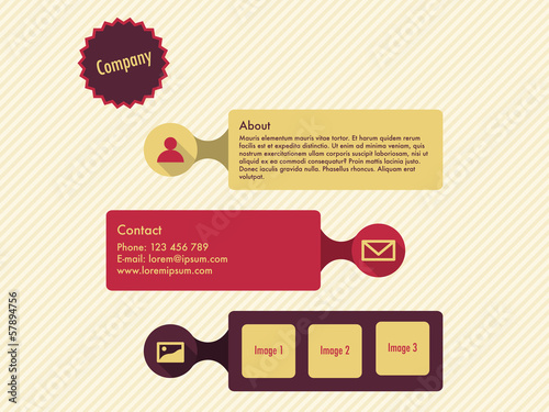 Website template in flat design