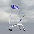 Greek shopping - 3D render