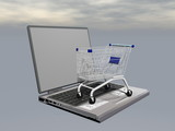 E-shopping - 3D render