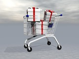 Buying gifts - 3D render