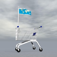 International shopping - 3D render