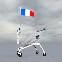 French shopping - 3D render