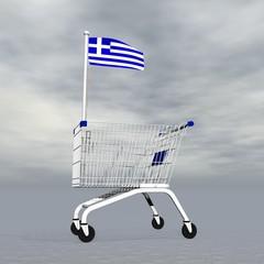 Greek shopping - 3D render