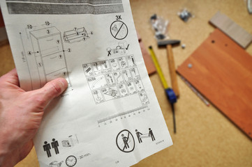 Working instructions, home assemle work
