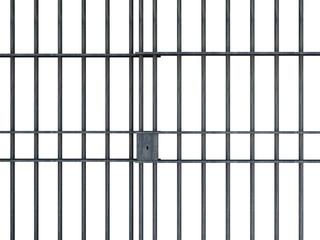 Jail bars isolated on white background