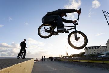 BMX stunts at the street