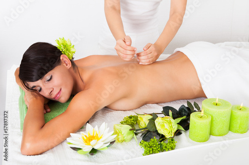 Young Woman At Spa Saloon