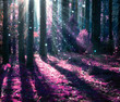 Fantasy Landscape. Mysterious Old Forest. - 57897515