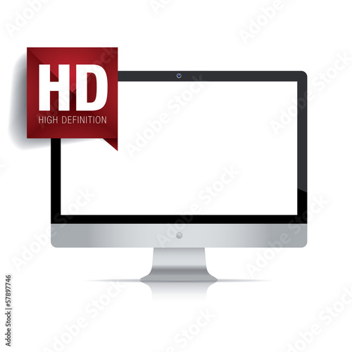 High definition lcd TV isolated