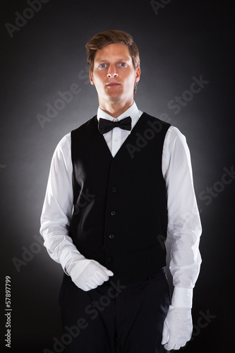 Portrait Of A Male Waiter