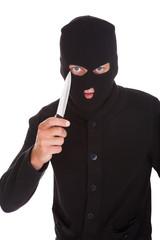 Burglar Holding Knife
