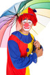 Happy Clown With Umbrella