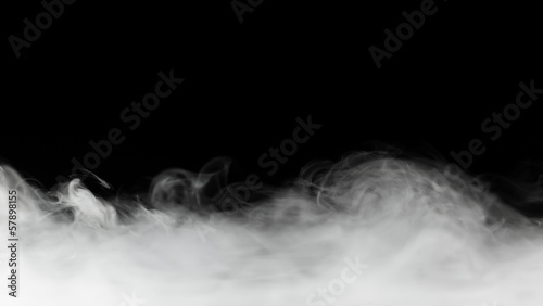 Foto op Canvas Rook dense smoke backdrop isolated on black