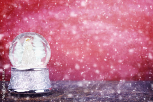 Snowglobe Against Red