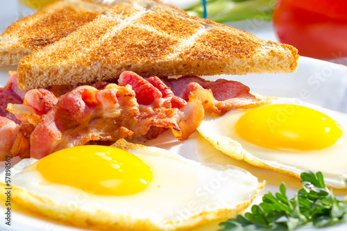 Foto op Canvas Egg Continental breakfast.