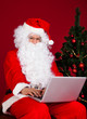 Santa using laptop