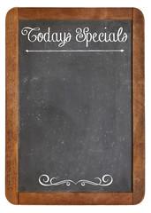 Today Specials on blackboard