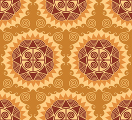 african style seamless pattern