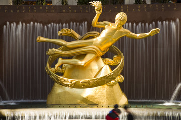 Prometheus Statue at Rockefeller Center NYC