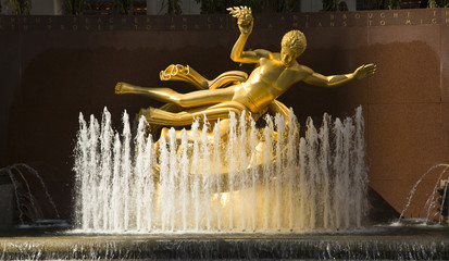 Prometheus Statue at Rockefeller Center