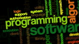 Animation of tag cloud related to software development