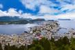 Cityscape of Alesund Norway