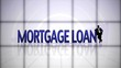 Mortgage Loan Text in Falling Cubes,with Green Screen, Loop