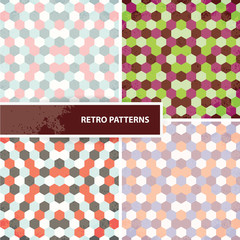 Set of retro patterns