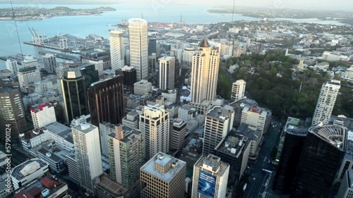 Aerial View of Auckland Cityscape