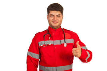 Successful paramedic man