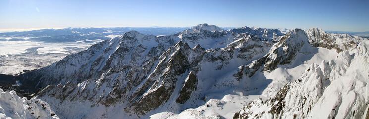Mountain panorama at winter - Slovakia