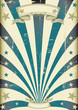 circus blue beams vintage poster