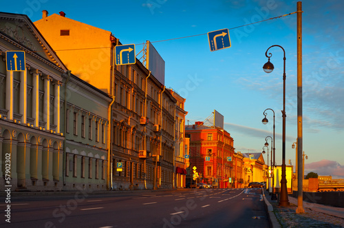 View of St. Petersburg  in morning
