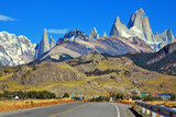 Excellent highway in Patagonia