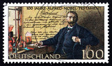 Postage stamp Germany 1995 Alfred Nobel poster