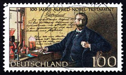 Postage stamp Germany 1995 Alfred Nobel