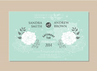 Wedding invitation card. Vector illustration